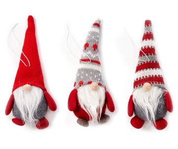 winter wonder lane red gray gnome ornaments 3 pack big lots