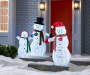 3 PIECE LED LIT SNOWMAN FAMILY
