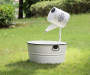"30""H Farmhouse  Metal Enamel Watering Can Fountain"