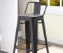 30 inch Black Metal Low Back Barstool lifestyle
