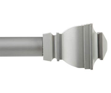 Kenney Silver Satin Riley Curtain Rod 30 84