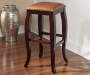 30 inches Square Caramel Pub Barstool silo front