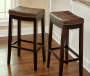 32 inches Brooke Brown Saddle Barstool lifestyle