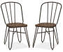 "34.25 ""H S/2 Industrial Steel Dining Chair w/Elm Wood Seat"