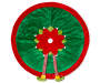 3D Elf Suit Tree Skirt 48 inch silo front