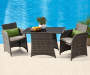 3PC ALL WEATHER WICKER BALCONY SET