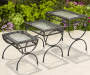 Deals on Black 3-Piece All Weather Wicker Nested End Table Set DL-RT007