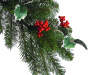 4 foot Jolly Holly Berry 3 Tier Topiary Urn silo front branch close up