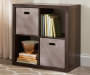 4-Cube Brown Storage Cubby