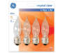 40 Watt Clear Bent Tip Decorative Bulbs in Silo Image