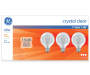 40-Watt Crystal Clear G25 Globe Light Bulbs, 3-Pack in package
