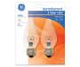 40W Flame Tip Medium Base Auradescent Bulb, 2-Pack in package