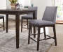"41"" Madison Gray & Brown Armless Modern Barstools, 2-Pack"