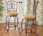 41 inches Gathered Scrollwork Back Barstool lifestyle