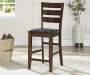 42 Mango Dark Brown Ladder Back Barstool silo front