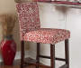 43 inches Damask Red Barstool lifestyle