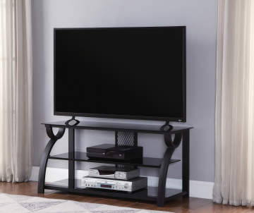 44 Metal Gl Curved Tv Stand