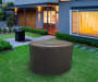 44 inches Brown Round Fire Pit Cover lifestyle