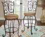 46 inches Gathered Scrollwork Back Barstool lifestyle