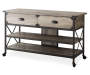 48 inch Rustic 2 Drawer TV Stand Silo Angled View
