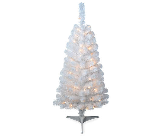4 Pre Lit Artificial White Christmas Tree Big Lots