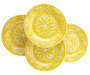 4PK SOLID YELLOW DINNER PLATE