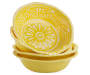 4PK SOLID YELLOW SALAD BOWL