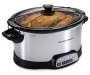 5 Quart Programmable Slow Cooker silo angled with food prop