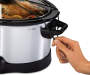 5 Quart Programmable Slow Cooker silo front with food prop and model