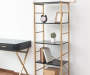 5 SHELF BLACK GOLD BOOKCASE