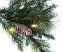 5 feet Comet Glitter Pre Lit Pine Urn Tree silo front close up branches