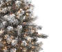 5 foot Comet Flocked Artificial Christmas Urn Tree with Clear Lights silo front branch close up