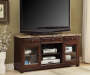52 Inch Faux Marble TV Stand with TV Displayed Room View