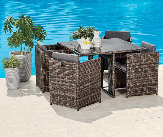 Deals on Wilson & Fisher 5-Piece All Weather Wicker Dining Set
