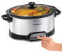 6 Quart Programmable Oval Slow Cooker with Hand Model Silo Image