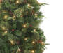 6 foot Donner Deluxe Pre Lit Artificial Christmas Urn Tree silo front branch close up