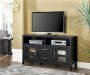 60 IN TALL BLACK TV MEDIA STAND