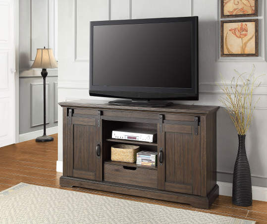 Stratford Rustic Sliding Barn Door Tv Stand Big Lots