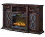 60IN WALNUT CONSOLE FIREPLACE