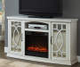 60IN WHITE CONSOLE FIREPLACE