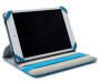 7 inch - 8 inch Tablet and iPad Swivel Folio Case Blue Open