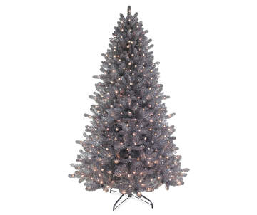 winter wonder lane 75 bozeman silver tinsel pre lit artificial christmas tree with clear mini lights big lots - Silver Tinsel Christmas Tree