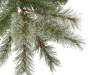 7.5' Park City Cashmere 7 point 5 foot Pre Lit Artificial Christmas Tree with Clear Lights silo front branch close up