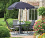 7.5 FT BLACK PATIO UMBRELLA