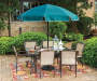 7.5 FT HUNTER GREEN PATIO UMBRELLA