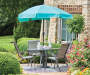 7.5 FT TURQUOISE PATIO UMBRELLA