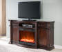 72IN MEDIA CHERRY FIREPLACE