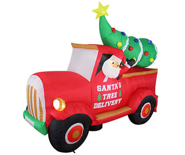 Old Red Truck With Christmas Tree In Back.Find Outdoor Christmas Decorations For Your Home Big Lots