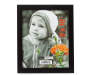 8 Inch by 10 Inch Black Linear Frame with Photo Silo Image