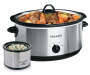 8 Quart Manual Slow Cooker with Dipper silo front view with food prop